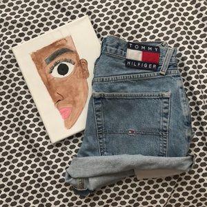 Vintage Tommy Hilfiger Hand Cut Jean shorts